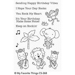 CS-268 ~ Jungle Vibes ~ CLEAR CLING BACKED STAMPS~ MY FAVORITE THINGS
