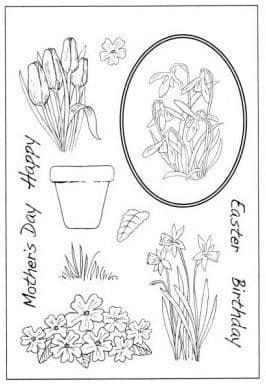 CS028D ~ SPRING ~ HOBBY ART Clear self cling stamps