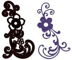 CTDI 7008 ~ FLOWER  AND SWIRL DIE ~ Crafts Too  Cutting and Embossing Die