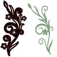 CTDI 7009 ~ FLOWER  AND FLOURISH DIE ~ Craft Too  Cutting and Embossing Die