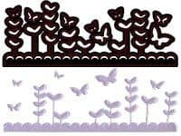 CTDI 7012 ~ BUTTERFLY GARDEN DIE ~ Crafts Too  Cutting and Embossing Die