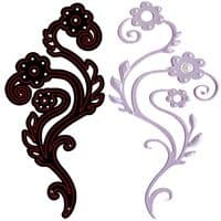 CTDI 7023 ~ FANCIFUL FLOWERS DIE ~ Crafts Too  Cutting and Embossing Die