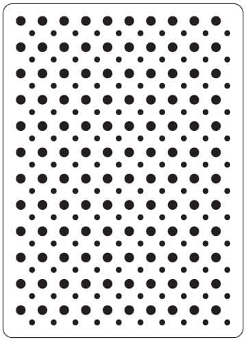 CTFD 3020 ~ SPOTS ~ embossing folder CRAFTS TOO