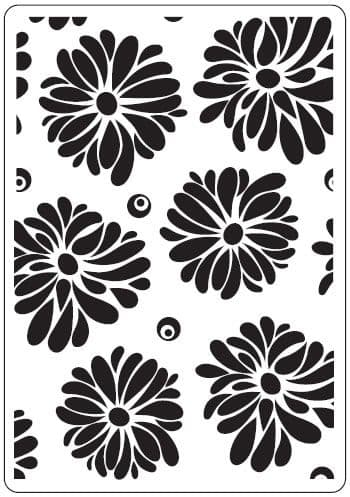 CTFD 3027 ~ FLOWERS ~ embossing folder CRAFTS TOO