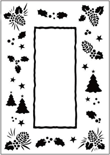 CTFD 3035 CHRISTMAS TREES FRAME embossing folder CRAFTS TOO