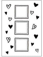 CTFD 3037 ~ HEARTS FRAMES ~ embossing folder Crafts Too