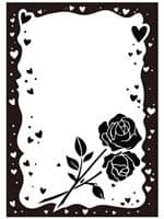 CTFD 3039 ~ ROSE & HEART FRAME ~ embossing folder CRAFTS TOO