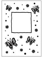 CTFD 3040 ~ BUTTERFLY FRAME ~ embossing folder Crafts Too