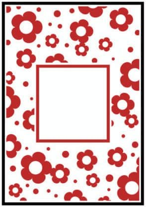 CTFD 3044 ~ FLOWER FRAME ~ CRAFTS TOO embossing folder