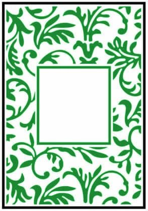 CTFD 3047 ~ FLORAL FRAME ~ CRAFTS TOO embossing folder