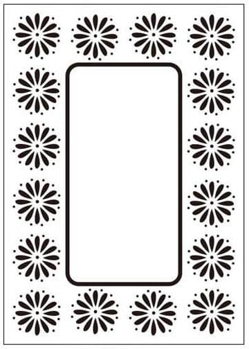 CTFD 3049 ~ DAISY FRAME ~ embossing folder Crafts Too.