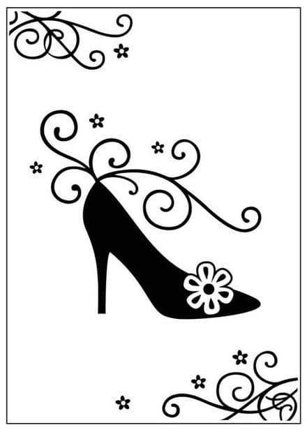 CTFD 3069 ~ HIGH HEEL SHOE ~ embossing folder Crafts Too.