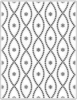 CTFD 3113 ~ SEAMLESS CIRCLE  ~ embossing folder