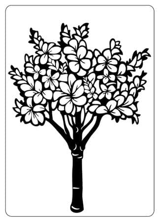 CTFD 4004 ~ FLORAL TREE ~ embossing folder Crafts Too.
