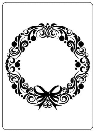 CTFD 4016 ~ CHRISTMAS WREATH ~ embossing folder from Crafts Too