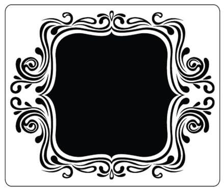 CTFD 4021 ~ FANCY FRAME ~ embossing folder by Crafts Too.