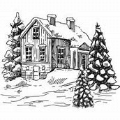 CTJJ102 ~ Festive House  ~ Two Jays Stamp Co ~ clear stamps