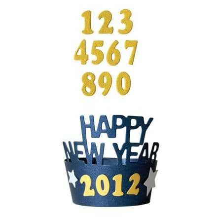 DC0228 ~ HAPPY NEW YEAR CUPCAKE LINER die ~ LifeStyle cut+emboss die