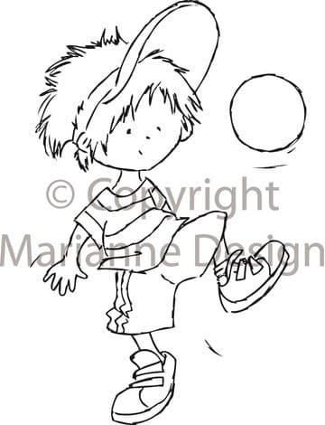 DDS3304 ~ Soccer ~ Don & Daisy ~ Marianne Designs Clear stamp