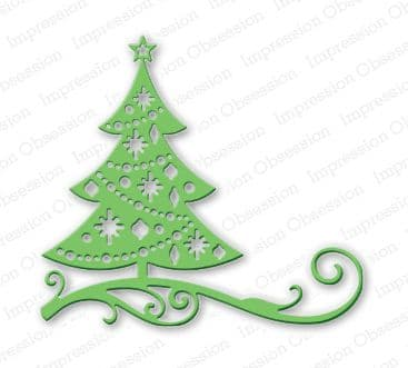 DIE111 L ~ CUT OUT CHRISTMAS TREE ~ Impression Obsession die
