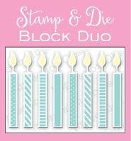 DIE316 DS ~ SMALL CANDLE BLOCK ~ Stamp and die set ~ Impression Obsessions. NEW