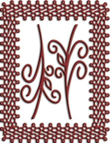 DL137 ~ Japanese Lace + Flourish Frame ~ Cheery Lynn Doily + 2 flourish dies