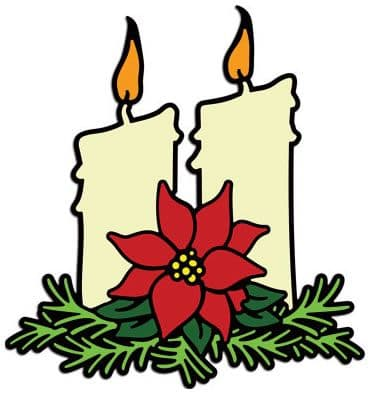 DL174 ~ Christmas Candlelight (large) ~ Cheery Lynn Doily die