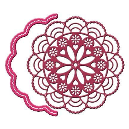 DL250 ~ CAPE COD DOILY with ANGEL WING ~ Cheery Lynn Doily dies