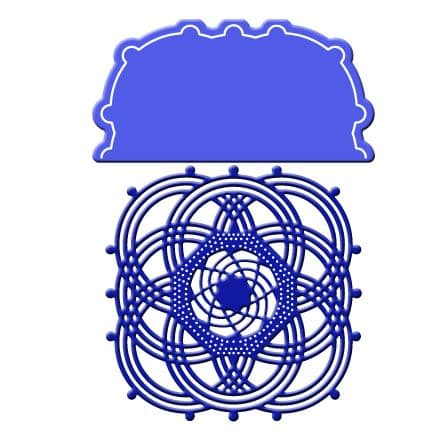 DL261 ~ INFINITY DOILY with ANGEL WING ~ Cheery Lynn Doily dies