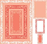 DL289 ~ MADRID FLOURISHES RECTANGLE BOUTIQUE STACKER FRAME~ set of three dies~ Cheery Lynn