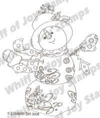 E035 ~ HERB the SNOWMAN ~ Whiff of Joy rubber stamp