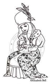 E166 ~ FESTIVE WINTER WILLOW ~ Whiff of Joy unmounted rubber stamp