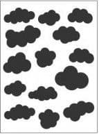 EMF007 ~ CLOUDS ~ A6 EMBOSSING FOLDER