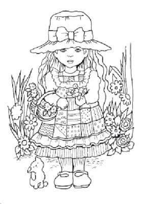 FTM05 ~ SARAH w.BASKET ~ STUDIO LIGHT clear self cling stamp