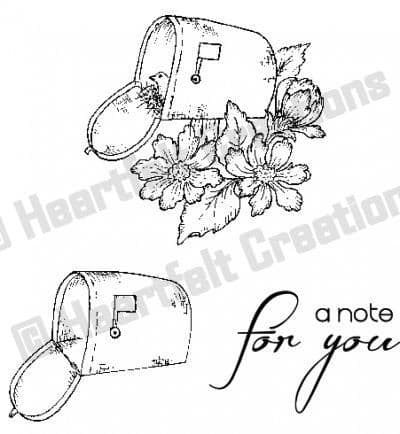 HCPC 3475 ~ SPECIAL DELIVERY ~ Heartfelt Creations pre cut stamp set.
