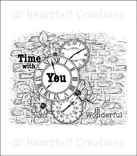 HCPC 3589 ~ BRICK & CLOCK COLLAGE PreCut Set ~ Once Upon a Time Collection ~  Heartfelt Creations