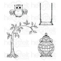 HCPC-3714 - SUGAR HOLLOW HANGOUT ~ HEARTFELT CREATIONS CLING STAMPS
