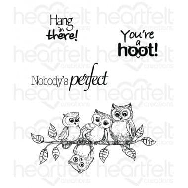 HCPC-3715 - YOU'RE A HOOT ~ HEARTFELT CREATIONS CLING STAMPS