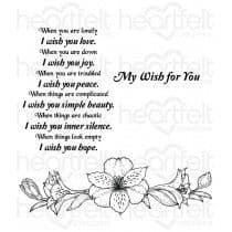 HCPC-3721 - SUNRISE LILY WISHES ~ HEARTFELT CREATIONS CLING STAMPS