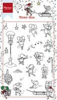 HT1608 ~ WINTER MICE ~  Marianne Designs Clear stamp