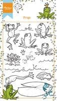 HT1617 ~ Hetty's Frogs ~  Marianne Designs Clear stamp