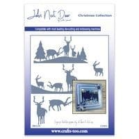 JND138 - Deer Scenes 2019 - Christmas Collection - John Next Door