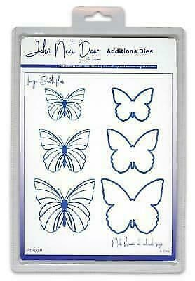 JNDAD007 - Large Butterflies - Additions Die - John Next Door