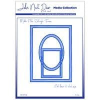 JNDMM006 - Media Plate Rectangle Frame - Media Collection - John Next Door