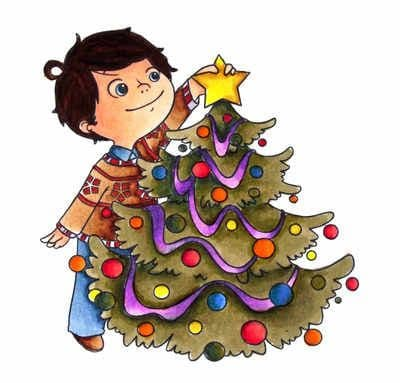 JS113 BILLY DRESSING THE CHRISTMAS TREE