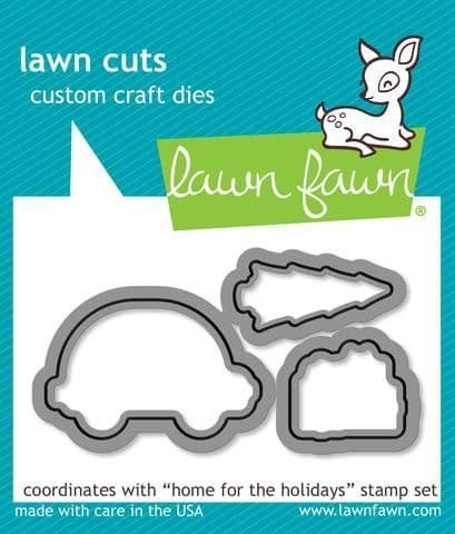 LF1221 S ~ HOME FOR THE HOLIDAYS ~ DIES BY LAWN FAWN