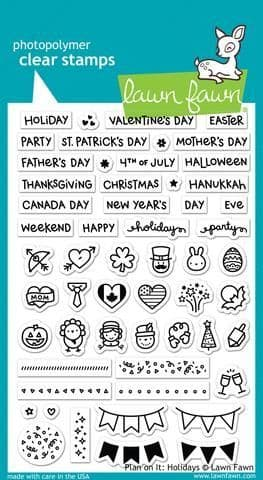 LF1231 ~ PLAN ON IT HOLIDAYS ~ CLEAR STAMPS BY LAWN FAWN