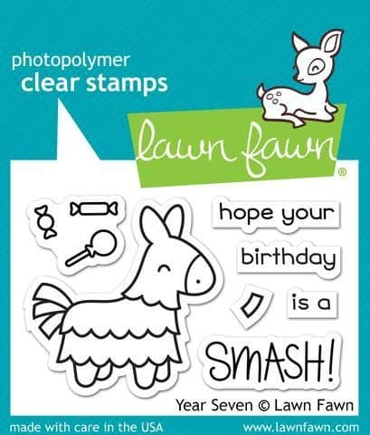LF1338 S ~ Year Seven ~ Horse ~ CLEAR STAMPS BY LAWN FAWN