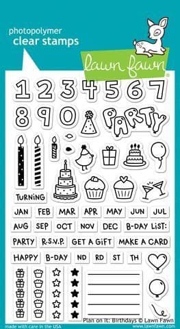 LF1340 ~ Plan on it: Birthday ~ CLEAR STAMPS BY LAWN FAWN
