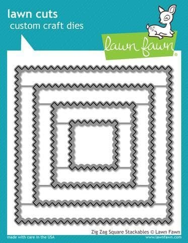 LF1384 L ~ Zig Zag Square Stackables  ~ DIES BY LAWN FAWN